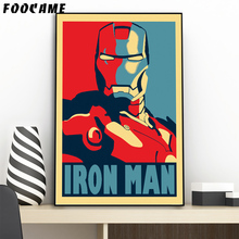 FOOCAME Super Hero Iron Man Posters and Prints Art Canvas Painting Home Decoration Wall Pictures For Living Room(China)