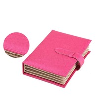 New Creative Leather Book Style Jewellery Ear Studs Earrings Storage Organiser Box Case Holder Book Shape Storage Case Box BS(China)