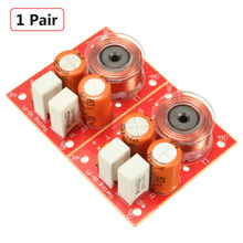 2PCS 2-Way 2 Unit Hi-Fi Audio Speaker Frequency Divider Stereo Crossover Filters Free Shipping
