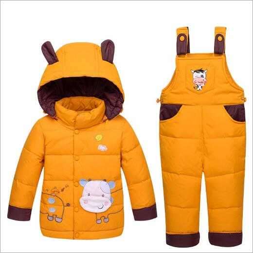 2017 Children Winter clothing Warm baby Boys clothing sets Boys Outdoor Ski sport Kids down coats Jackets+trousers/Jumpsuit<br>