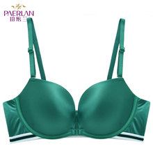 Buy PAERLAN Sexy Green Underwear Women Seamless Push Front Closure Wire Free Stripe Beauty Back Bra Small Breast Gathers