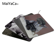 MaiYaCaLuxury Printing Gray Cat with a Zenit Camera Game Design Gaming PC Anti-slip Laptop Mouse Mat for Optical/Trackball Mouse(China)