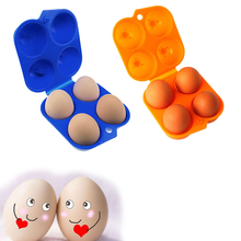 Kitchen Food preservation Convenient Egg Storage Box and Container Hiking Outdoor Camping Carrier For 2 Egg Case(China)
