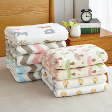 Six Layers Gauze Baby Adult Blankets Quilt Blankets Soft Throw on Sofa/Bed/Plane Travel Air Conditioning Plaids Blanket