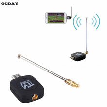OCDAY High Quality DVB-T Micro USB Tuner Mobile TV Receiver Stick For Android Tablet Pad Phone Digital Satellite Dongle Black