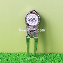 Golf Pitch Repair Divot Tool Hat Money Clip Ball Marker Mark Golfer Green Kit Wholesale(China)