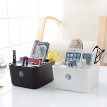 Small Size Storage Boxes Bathroom Office Table Organizer Pen Pencil Box Stationery Holder Storage Black Sundries Box E3MXBH05456(China)