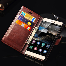 P8 Lite 2015 Vintage PU Leather Case For Huawei P8 Lite 2015 P8 Mini Phone Bag Cases Wallet Style Flip Cover Card Slots Stand