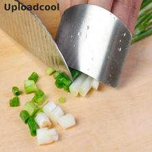 Uploadcool _ Free Shipping New Creative Kitchen Tools Stainless Steel Finger Protector Guard Knife Sliced Shield Kitchenware