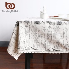 BeddingOutlet Eiffel Tower with Crown Pattern Tablecloth European Table Cover Multi Functional Cotton Line Lace Table Cloth