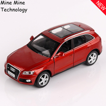 Double Horses 1:32 free shipping Audi Q5 supercar Alloy Diecast Car Model Pull Back Toy Car model Electronic Car with Kids Toys(China)