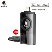 Baseus MFI 64GB USB Flash Drive For iPhone 7 6 6s Plus 5 5s se iPad Pen Drive For Lightning U Disk HD Memory Stick OTG Pendrive