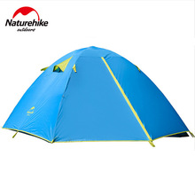 NatureHike Outdoor Camping Tent Double Layer 2~3 PersonWaterproof Double Door Design family Large Tents For Hiking 3 Season