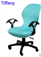 Tiffany colour lycra computer chair cover fit for office chair with armrest spandex chair cover decoration wholesale