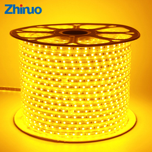 Zhinuo AC 220V LED Strip Waterproof IP65 SMD 5050 60leds/m Lighting Kit Flexible Led Light Indoor/Outdoor+Power Plug(China)