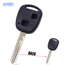Dandkey TOY47 Blade Remote Key Shell Keykess Case Fob 2 Button For Toyota Yaris Carina Corolla Avensis(China)