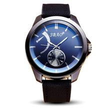 SBAO mens watches for sale online Symphony Fashion Personality High-grade Business Belt sport military Watches clock men gift