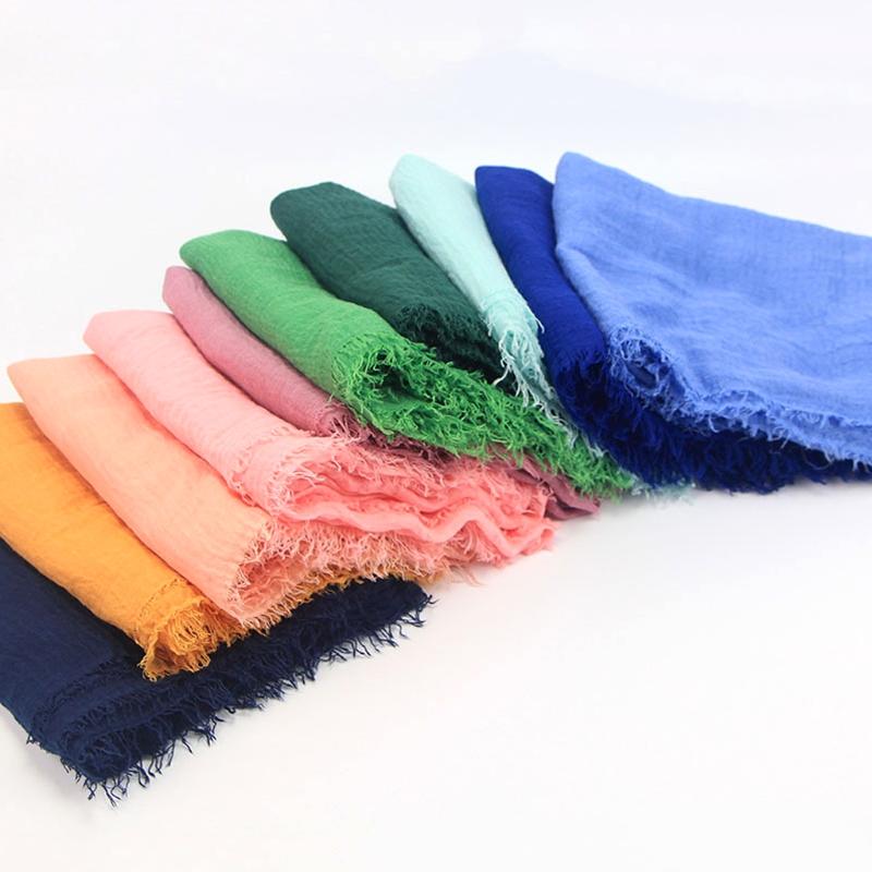 Women Crinkle Cloud Hijab Scarf Shawl Muslim Long Shawl Stole Wrap 4