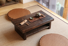 Oriental Antique Furniture Design Japanese Floor Tea Table Small Size 60*35cm Living Room Wooden Coffee Tatami Low Table Wood(China)