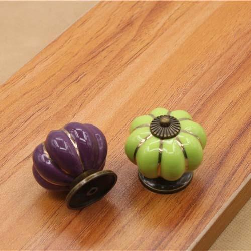 Hight Quality Pumpkins Knobs Handles Ceramic Door Handles Europe Cabinets Cupboard Drawer pulls 40mm<br><br>Aliexpress