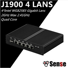 Eglobal Mini PC x86 12v Low Power Intel Baytrail J1900 CPU 4 Lan 4 USB Quad Core Industrial Fanless PC pfSense Firewall(China)