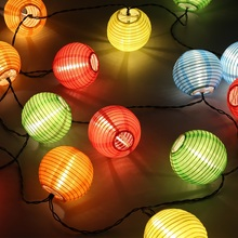 Lantern Ball Solar String Lights 6m 20 LEDs Solar Lamp Outdoor Lighting Fairy Globe Christmas Decorative Light for Party Holiday(China)