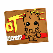 Free Shipping Marvel Guardians of The Galaxy 3D Cute Groot Anime Cartoon Totoro Gravity Falls Zelda Mens Wallets Short Purse(China)