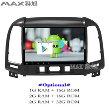 MAX gps navigation system Android 6.0 Car DVD Player for Hyundai santa fe 3/4holes with car stereo radio 4G WIFI free map swc(China)