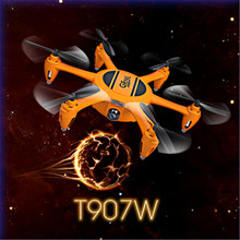 Gteng t907w mini drone with HD camera quadcopter copter quad remote control toys rc helicopter dron droni radio(China)