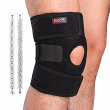 Free Shipping Adjustable Sports Leg Knee Support Brace Protector Knee Pads Sleeve Cap Patella Guard 2 Spring Bars,One Size,Black(China)