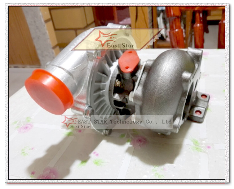 Oil cooled Turbo T3T4 T3 T4 T3T4 TO4E Turbine AR .63 comp AR .50 Turbocharger For Vehicle tuning Universal 155-170kw 5 bolts (2)