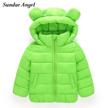 Buy Sundae Angel Girl Jackets Girls Outerwear Coats Long Sleeve Solid Thick Kids Baby Boy Parkas Cotton Warm Children Clothing for $14.24 in AliExpress store