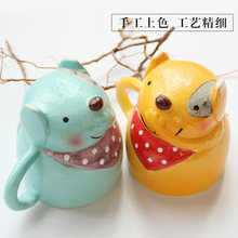 Personality 3D animal cover ceramic cup Mug lovely office water cup milk coffee cups(China)