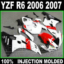 MOTOMARTS NEW for YAMAHA R6 fairing 2006 2007 Injection molding white red black 2006 2007 YZF R6 fairings