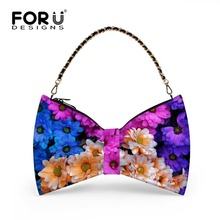 FORUDESIGNS Women Messenger Bags Fashion Floral Print Chain Bag Flap for Ladies Handbag High Quality Valentine Women Bags Bolsos(China)