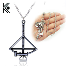 movie he Walking Dead necklace vintage Zombie hat telescope bow and arrow gun axe water bottle pendant for men and women