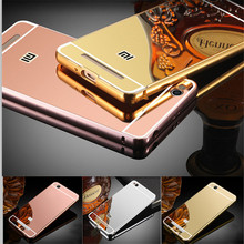 5.0 16GB Luxury Aluminum Case Plating Mirror Case For Xiaomi Redmi 4A Metal Frame Protector Back Cover Fundas For Redmi 4A Case
