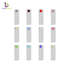 12PCS! 8MM Slide Charms Bar with Birthstone Newest style Fit for Wristbands/ Bracelets DIY Wristband jewelry LSSC378-379*12(China)