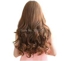 75 Cm Long Big Weave Curly Hair Extension Ladies Sexy Natural Synthetic Hair Clip In Hair Extensions Heat Resistant Hairpiece