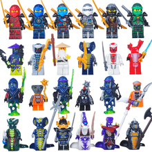 2017 NEW 24PCS Compatible LegoINGlys NinjagoINGlys Set Kai Jay Cole Zane Nya Lloyd Weapons NINJA Figure Blocks Toys for Children
