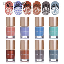 Buy NICOLE DIARY 9ml Stamping Polish Spring Series Nail Art Lacquer Varnish DIY Nails Printing Polish 8 New Colors Optional for $2.99 in AliExpress store