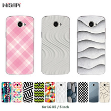 for LG K5 Case Cover Soft TPU Silicone Cover Coque Clear Cases Square Printed Mobile Phone Bag for LG k5 K 5 X220ds Fundas(China)