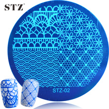 1PCS 2017 NEW Small Flower/Lace Printing of DIY Decor Nails Nail Art Stamps Plates Templates Manicure STZ02