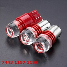 2pcs 12V Car Bulbs Reverse Light 1156 1157 7443 5630 SMD LED Car Auto Turn Light Strobe Brake Light Lamp Bulb Red