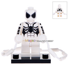 Drop Shipping Single Sale WM332 White Spiderman With Climbing Rope Vine String Building Blocks Children Gifts Toys