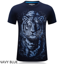 Men Hip Hop T Shirt 2016 The New 3d Printed White tiger / snake / skull and wolf/Indian wolf/ T Shirts male  Brand Clothing