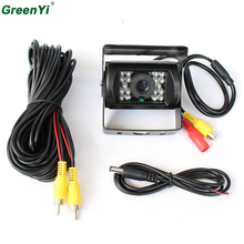 Parking Assistance BUS Camera Car Truck Night Vision PAL Reverse Rear View Camera For Backup Parking 12-24V 18 Infrared LED