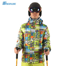 Goexplore Skiing Jacket Male -30 degree 2017 Waterproof Windproof Hiking Outdoor Winter Clothes Outerwear Ski Snow Jacket Men(China)