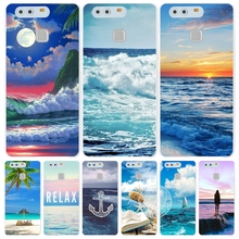 blue sea wave beach summer Cover phone Case for huawei Ascend P7 P8 P9 P10 lite plus G8 G7 honor 5C 2017