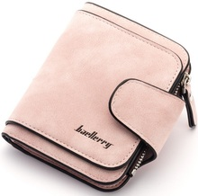 Baellerry newest style women's scrub PU leather antique Short section Three folds wallets purses clutches for woman N2346(China)